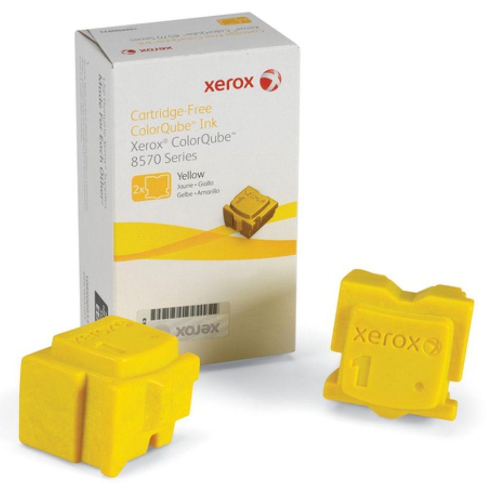 Cera Original Xerox Colorqube 8570 Amarelo