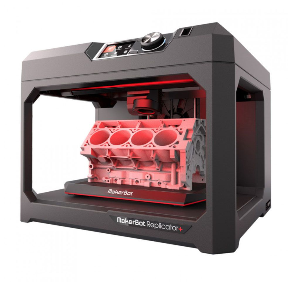 Impressora 3D MakerBot FDM Smart Extruder+ LCD/WiFi/USB/Ether Tough PLA  (Replicator+~MP07825)