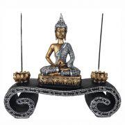 Aparador Altar  Buda Hindu Tailandês Decoração com Castiçal