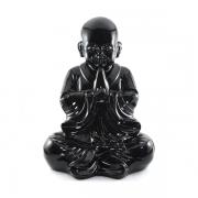 Buda Chinês grande Preto intenso Estátua.