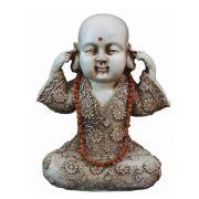 Buda Chinês Sabio Surdo Estátua Decoração.