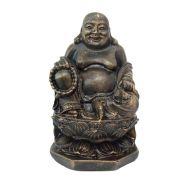 Buda Chinês Flor De Lótus Pequeno Estátua .