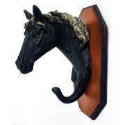 Cabideiro de parede Cabeça de Cavalo Com um Pino.