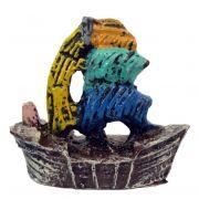 Caravela enfeite para aquário decoração.