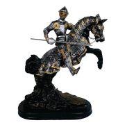 cavaleiro medieval com lança jousting justa grande.