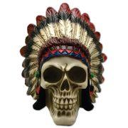 Caveira Crânio índio Indígena Cocar Pequeno.