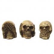 Caveira Crânio Trio Cego Surdo e Mudo