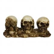 Caveira Crânio Trio Cego Surdo e Mudo base