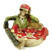 Cinzeiro Pirata Caveira com tesouro.