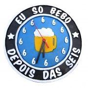 Relógio Eu Só Bebo Depois Das 6 Azul