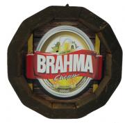Tampa de Barril em madeira Personalizada Cerveja  Brahma Choop