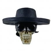Crânio Caveira Chapéu estilo Zorro