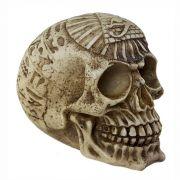 Crânio caveira Egípcio Egito em alto relevo.