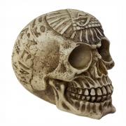 Crânio caveira Egípcio Egito em alto relevo