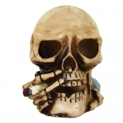 Crânio Caveira Fumante Cigarro Fumando