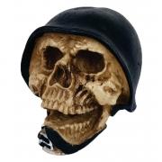 Crânio Caveira Soldado com capacete Exército estatua