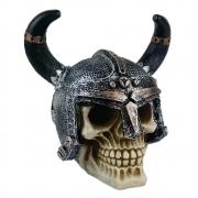 Crânio Caveira Soldado Medieval Chifre grande