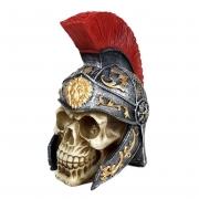 Crânio Soldado Romano Guerreiro com capacete
