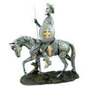 Dom Quixote de la mancha no Cavalo prateado.