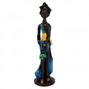 Estátua Africana Charme Pequena decoração