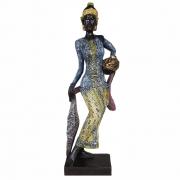 Estátua Africana Luxo Grande decorativa