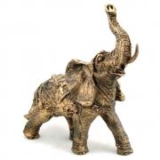 Estátua Elefante Indiano cor ouro envelhecido grande