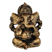 Estátua Ganesha Pequeno cor ouro
