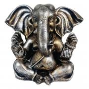 Estátua Ganesha sentado orelhudo cor estilizada