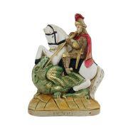 Estátua imagem São Jorge Guerreiro em resina Pequeno.