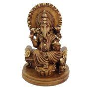Estatueta Ganesha Marron