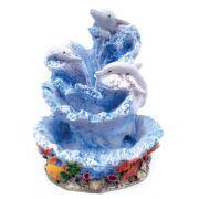 Fonte de água Oceano azul Golfinhos Decoração.