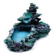 Fonte Agua Cascata decorativa Laguinho tipo pedra Verde.