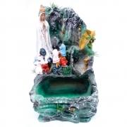 Fonte de água Nossa Senhora de Fátima Cascata verde
