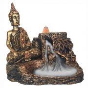 Incensário Cascata Buda Hindu Cachoeira porta incenso Backflow