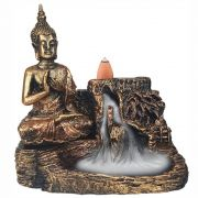 Incensário Cascata Buda Tibet Rezando porta incenso Backflow Grande