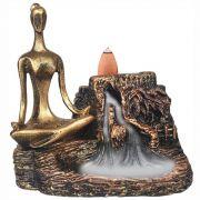 Incensario Cascata Cachoeira Yoga Zen Meditar Grande Backflow.