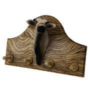 Porta chaves ou roupas cabeça de boi grande decorativo.