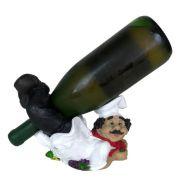 Porta vinho Cozinheiro Deitado Melancia decoração .