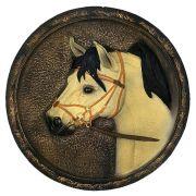 Quadro Cavalo Parede Creme em alto relevo Decorativo.