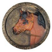 Quadro Cavalo Parede marrom em alto relevo Decorativo.