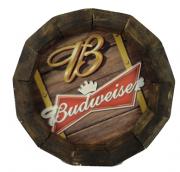 Tampa de Barril em madeira Personalizada Cerveja Budweiser