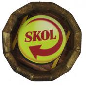 Tampa de Barril em madeira Personalizada Cerveja Skol