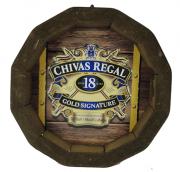 Tampa de Barril em madeira Personalizada Wisky Chivas Regal