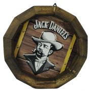 Tampa de Barril em madeira Personalizada Wisky Jack Daniel`s