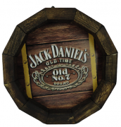 Tampa de Barril em madeira Personalizada Wisky Jack Daniel`s Old