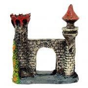 Torre de Castelo enfeite para aquário Pequeno.