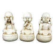 Trio Buda Chinês Cego Surdo e Mudo Pequeno.