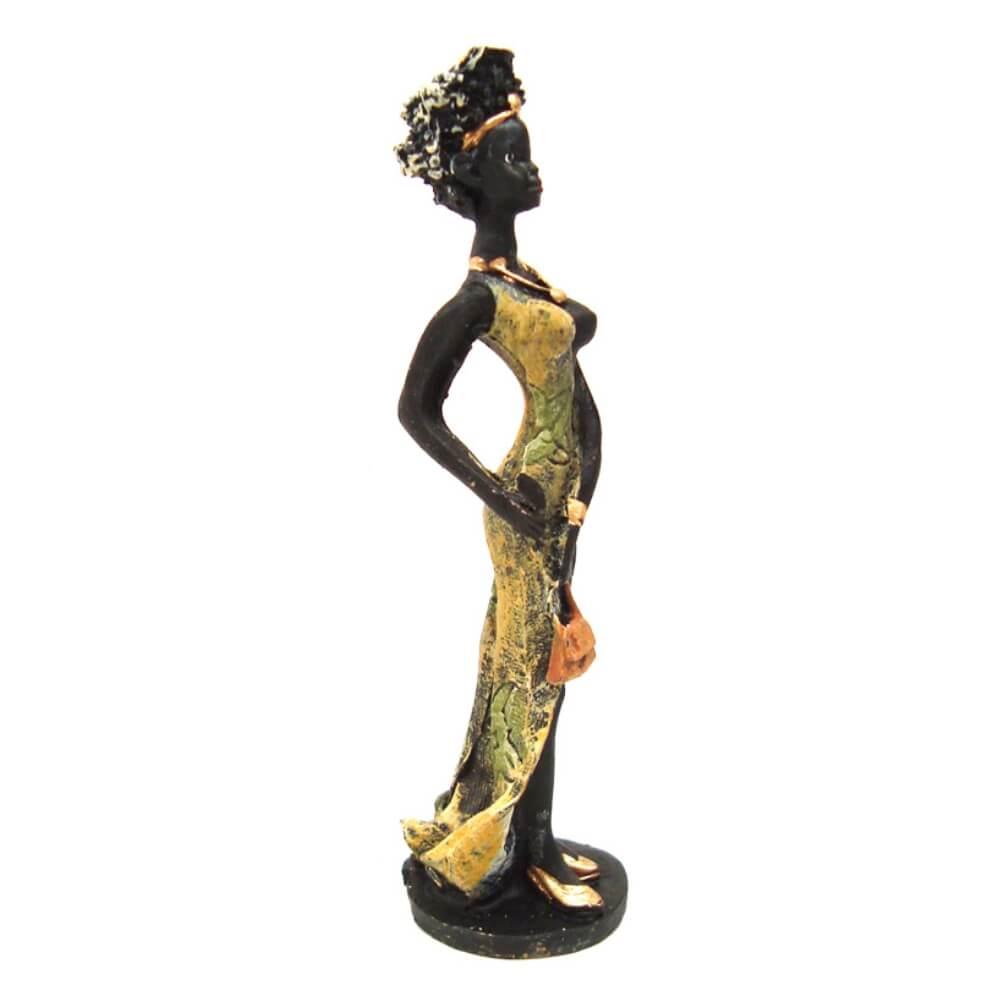Estátua Africana enfeite Charme Pequena