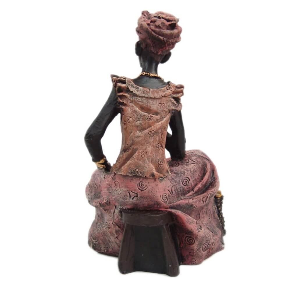 Africana Sentada Grande - Shop Everest - Casa e Decoração - A maior loja de objetos  decorativos do Brasil. 121c7e93088