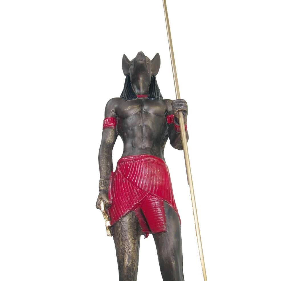Anúbis Guardião E Guia Dos Mortos Estátua.